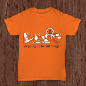 Stepping up to end hunger tshirt - Crop Hunger Walk