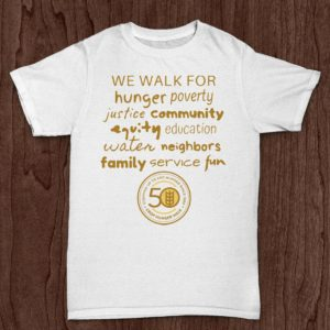 "Crop Hunger Walk - ""We Walk for Hunger. . ."" White T-Shirt"